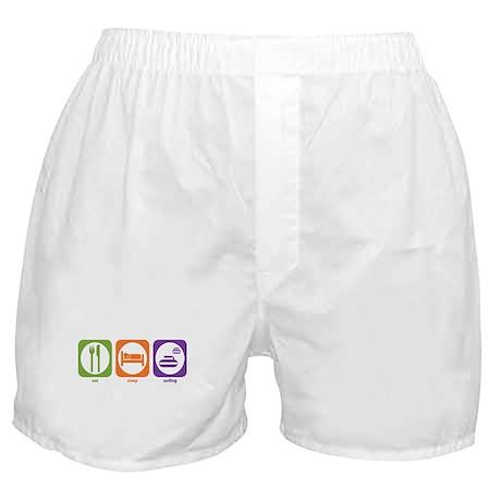 Eat Sleep Curling Boxer Shorts
