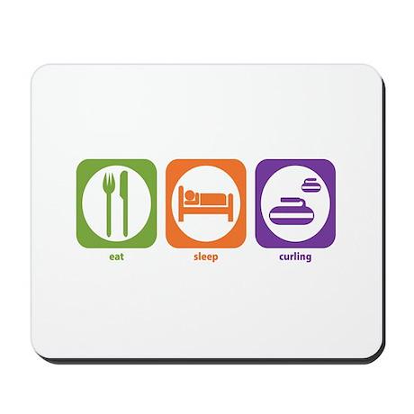 Eat Sleep Curling Mousepad