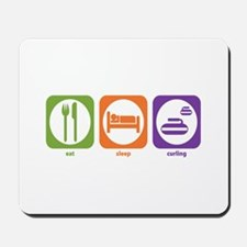 Eat Sleep Curling Mousepad