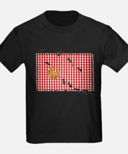 Ant Picnic on Red Checkered Cloth T-Shirt