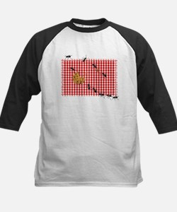 Ant Picnic on Red Checkered Cloth Baseball Jersey