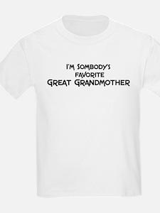 Favorite Great Grandmother Kids T-Shirt