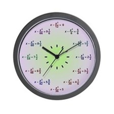 Math Clock (Hours and Minutes) Wall Clock