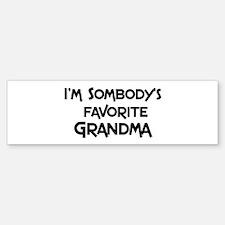Favorite Grandma Bumper Bumper Bumper Sticker