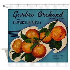Vintage Fruit Vegetable Crate Label Shower Curtain