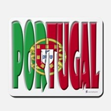 Word Art Flag Portugal Mousepad