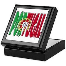 Word Art Flag Portugal Keepsake Box