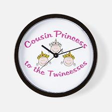Cousin Princess to Twincesses Wall Clock