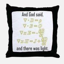 """Let There Be Light"" Throw Pillow"