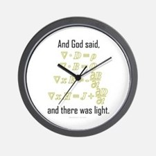 """""""Let There Be Light"""" Wall Clock"""