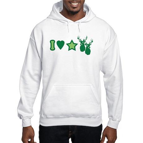 I Love StarBucks Hooded Sweatshirt