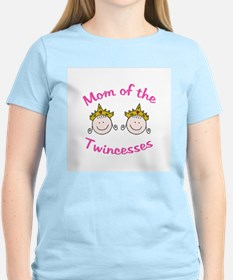 Mom of Twincesses Women's Pink T-Shirt