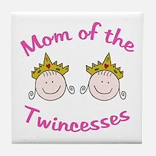 Mom of Twincesses Tile Coaster