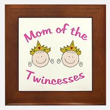 Mom of Twincesses Framed Tile