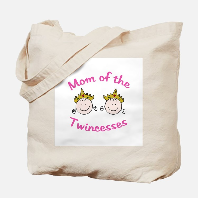 Mom of Twincesses Tote Bag