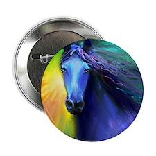 Fresian horse 1 Button