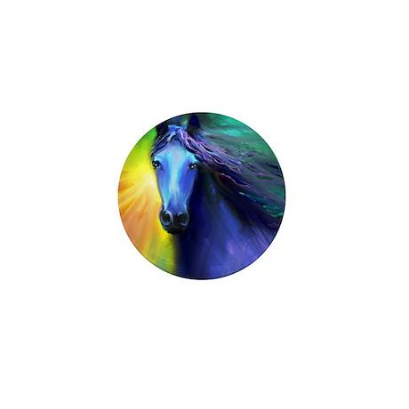 Fresian horse 1 Mini Button
