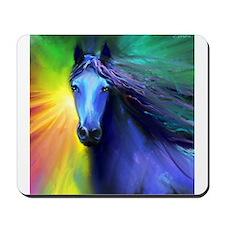 Fresian horse 1 Mousepad