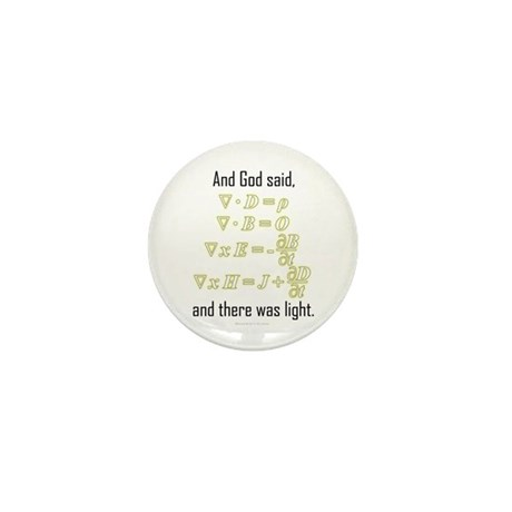 """""""Let There Be Light"""" Mini Button"""