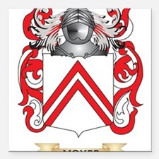 Moyer Coat of Arms - Family Crest Square Car Magne