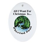 Christmas Peas Oval Ornament
