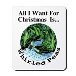 Christmas Peas Mousepad
