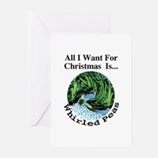 Christmas Peas Greeting Cards (Pk of 10)