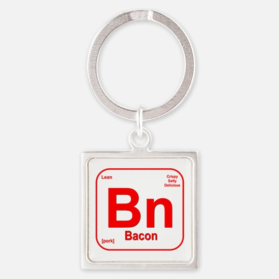 Bacon (Bn) Square Keychain