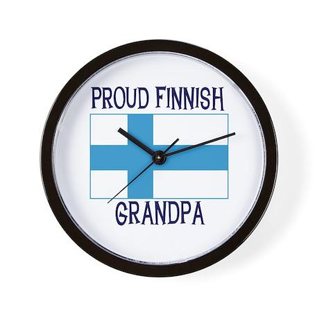 Proud Finnish Grandpa Wall Clock
