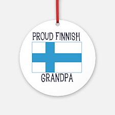 Proud Finnish Grandpa Ornament (Round)
