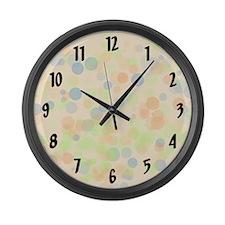 Pastel Dots Large Wall Clock