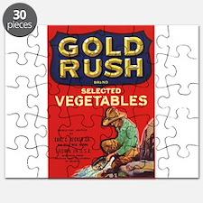 Vintage Fruit Vegetable Crate Label Puzzle