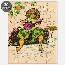 Hawaiian ukulele player Puzzle