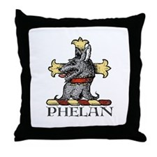 Phelan, from Gaelic for Little Wolf Throw Pillow