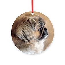 Pekingese 02 4x4.jpg Ornament (Round)