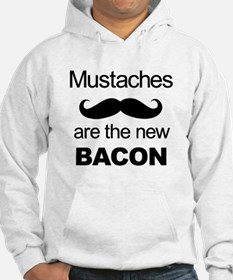 Mustaches: the new bacon Hoodie