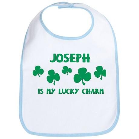 Joseph is my lucky charm Bib