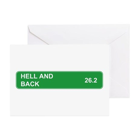 Hell and Back Marathon Greeting Cards (Package of