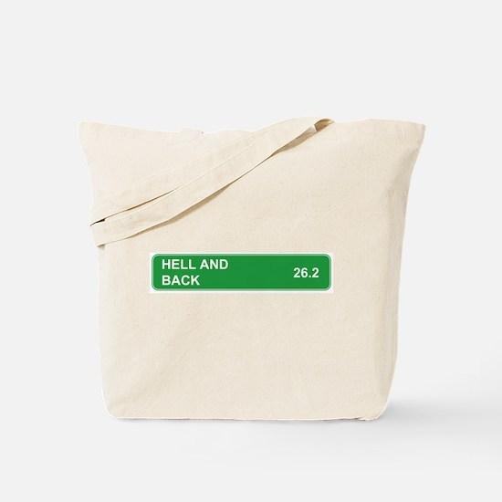 Hell and Back Marathon Tote Bag