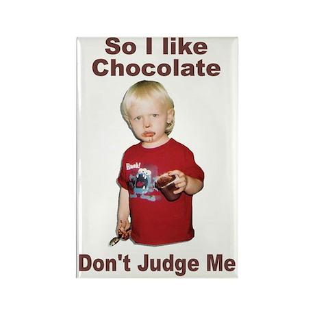 I Like Chocolate Rectangle Magnet
