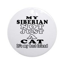 Siberian Cat Designs Ornament (Round)