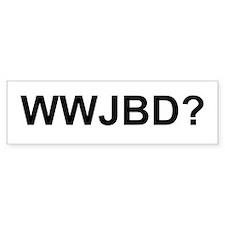 WWJBD Bumper Bumper Sticker