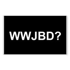 WWJBD Rectangle Decal