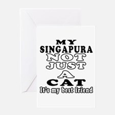 Singapura Cat Designs Greeting Card
