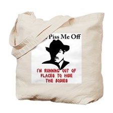 The gangsters warning Tote Bag