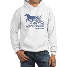 No hour is lost in the saddle Hoodie