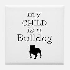 Bulldog Child Tile Coaster