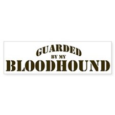 Bloodhound: Guarded by Bumper Bumper Sticker