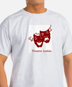 Theatre Junkie Ash Grey T-Shirt