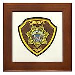 Boundry County Sheriff Framed Tile